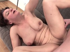 A young guy fucks older woman in anal