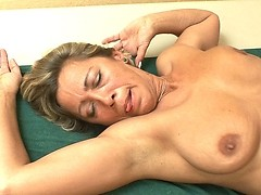 Fingering and nailing her tender mature pussy is all good for her!