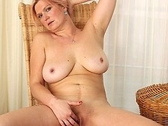 Hot and horny big breasted housewife getting wet