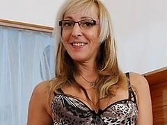 Hot MILF sucks cock and gets fucked hard