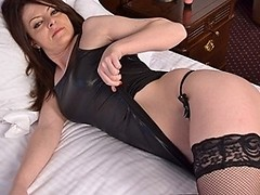 Hot MILF loves her dildo in her wet snatch