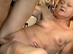 Naughty mature slut gets fucked in a restaurant