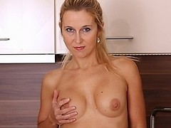 Sexy MILF shows off hot body and masturbates