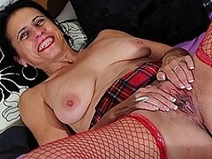 Kinky mature slut playing alone