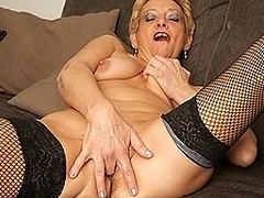 Naughty housewife loves to masturbate