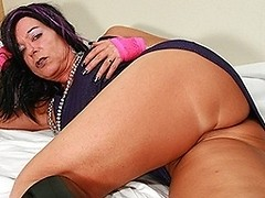 Horny mature slut sucking a cock
