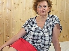 Naughty German mature lady getting dirty