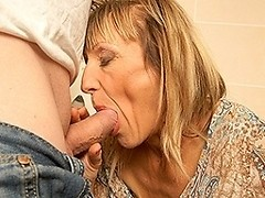 Kinky pee loving housewife gets a piss and a fuck on a toilet