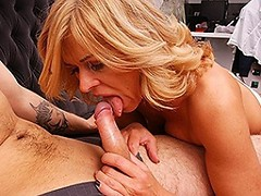 Hot blonde housewife getting fucked by her toy boy
