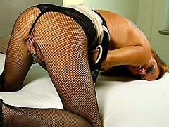 Horny Dutch mature lady playing with her wet pussy