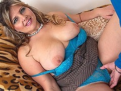 Cute big breasted BBW sucking and fucking in POV style