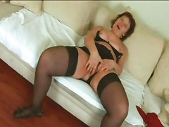 Thick European Bitch in Stockings Gets Heavy Pounding