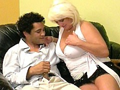 Blonde milf hard banged in her pussy