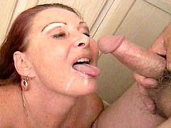 Cock hungry milf creamed in her mouth