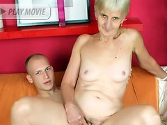 Wild grandma Irine and her fuckbuddy go for a session of hardcore fucking in this kinky porn movie