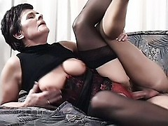 Horny grandma Jozsefne fools around with her fuck buddy and got her pussy fucked in many ways