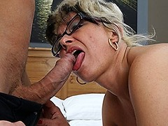 Naughty mature slut fucking and sucking her ass off
