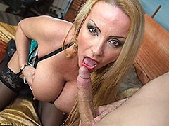 Hot Big breasted MILF fucking and sucking POV style