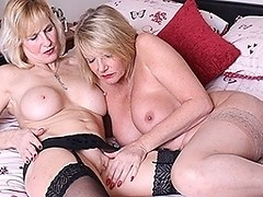 Two naughty British housewives go full lesbian