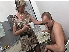 MILF In Stockings Desperate For Hard Rod