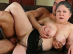Fucking a hairy old pussy