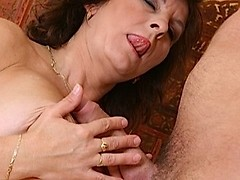 Cool old slut gets hammered